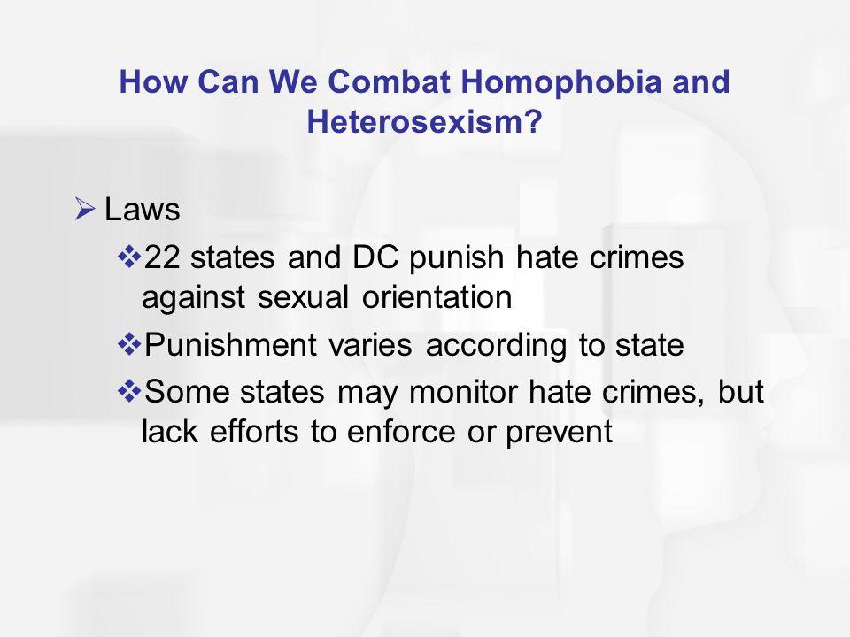 How Can We Combat Homophobia and Heterosexism