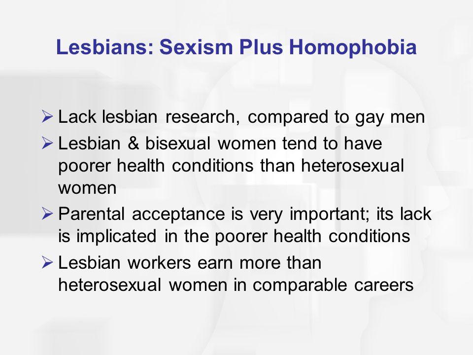 Lesbians: Sexism Plus Homophobia