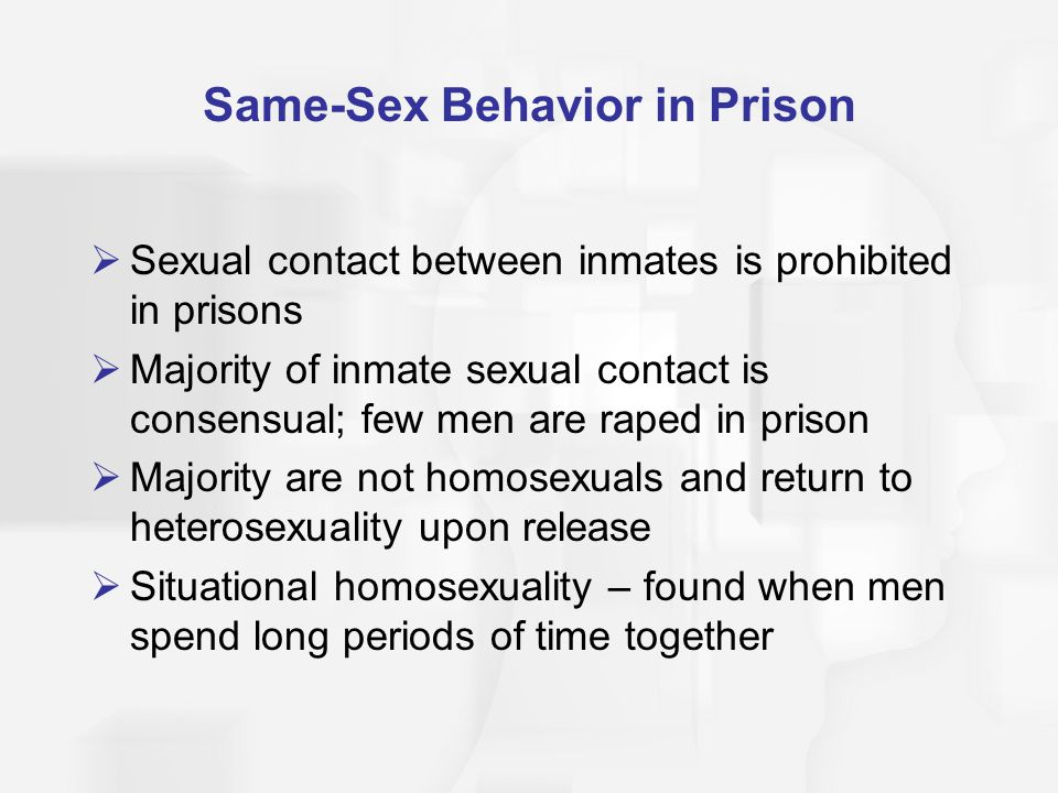 Same-Sex Behavior in Prison