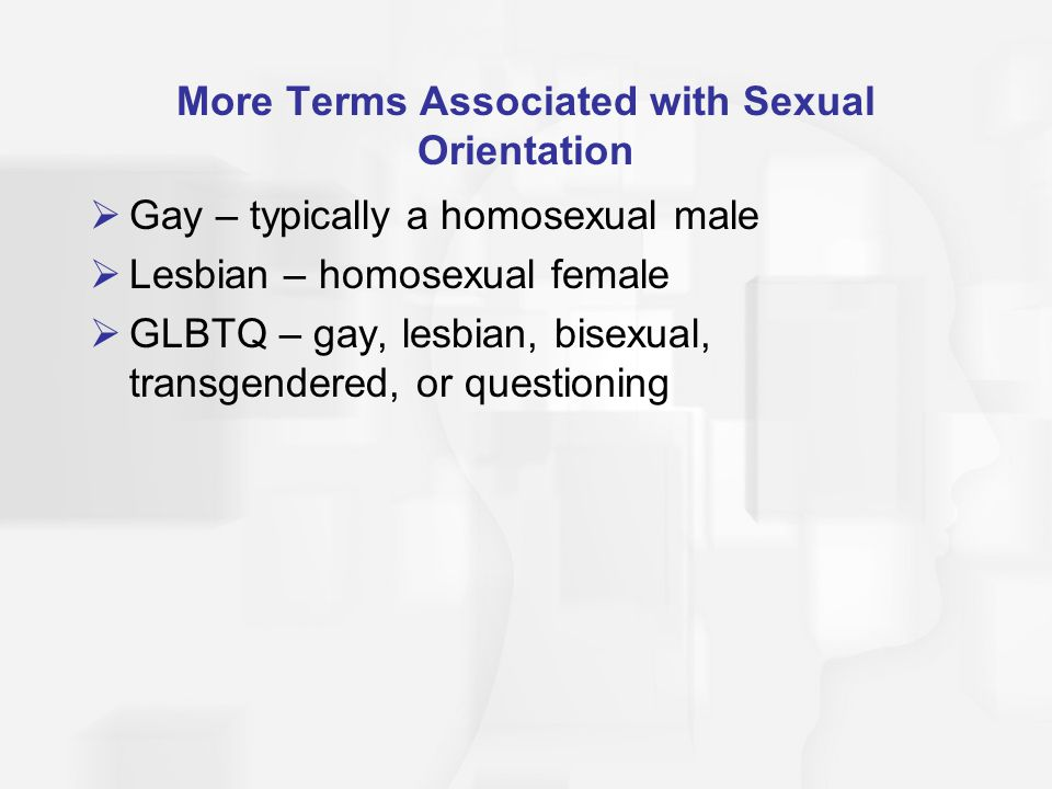 More Terms Associated with Sexual Orientation
