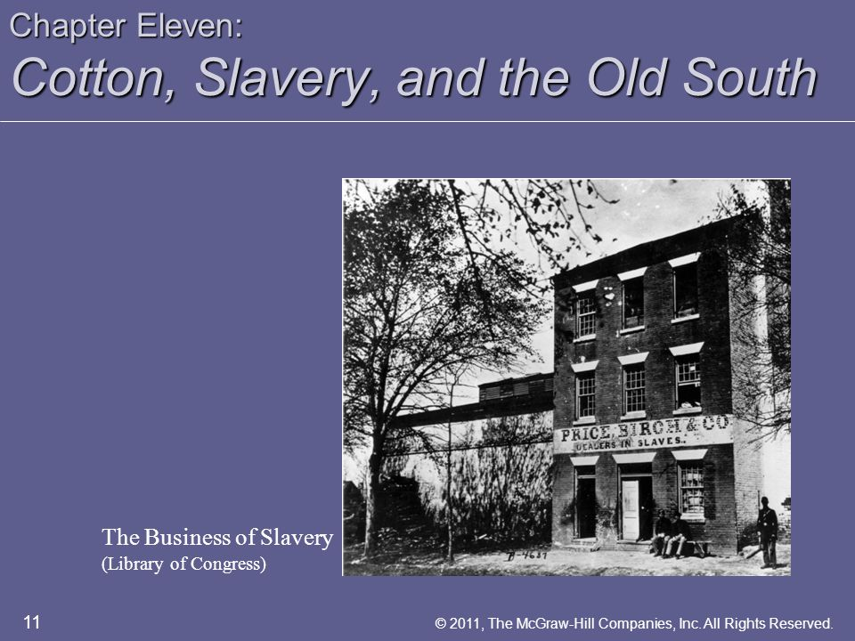 Chapter Eleven: Cotton, Slavery, and the Old South