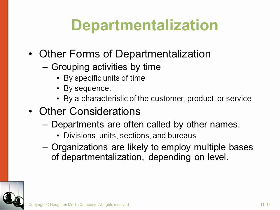 Departmentalization Other Forms of Departmentalization