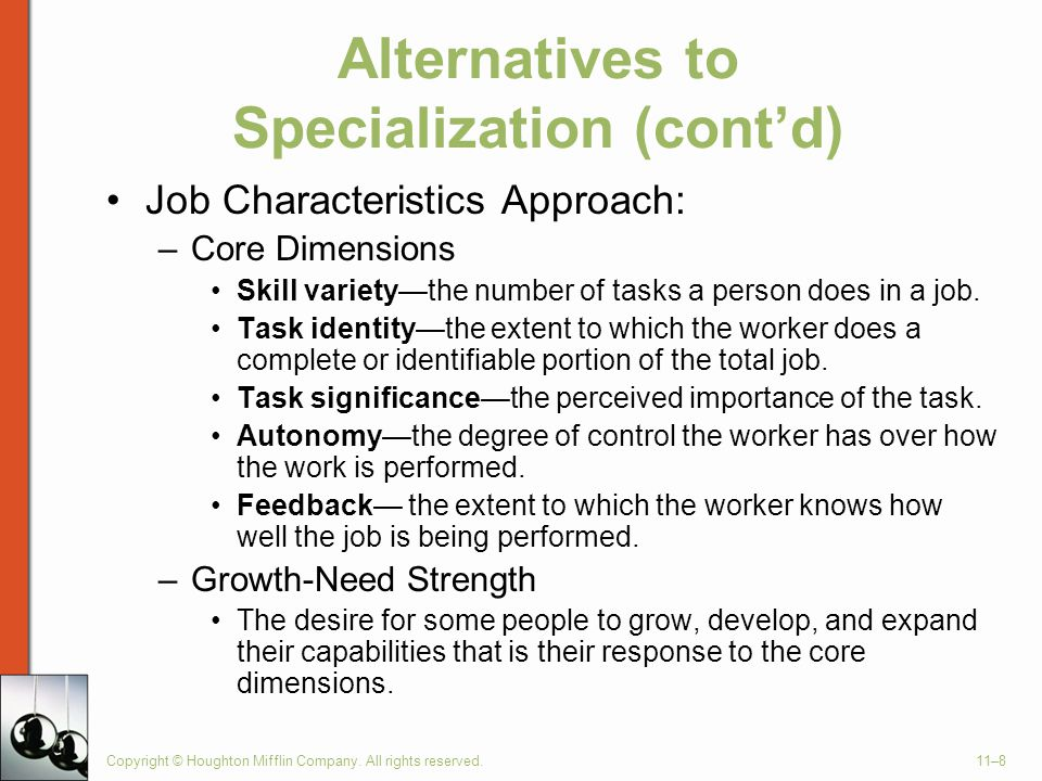 Alternatives to Specialization (cont'd)