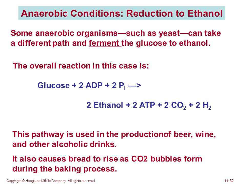 Anaerobic Conditions: Reduction to Ethanol