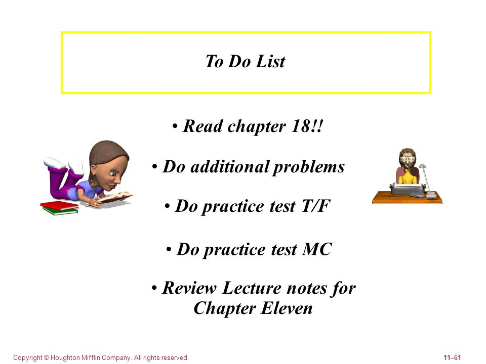 Do additional problems Review Lecture notes for