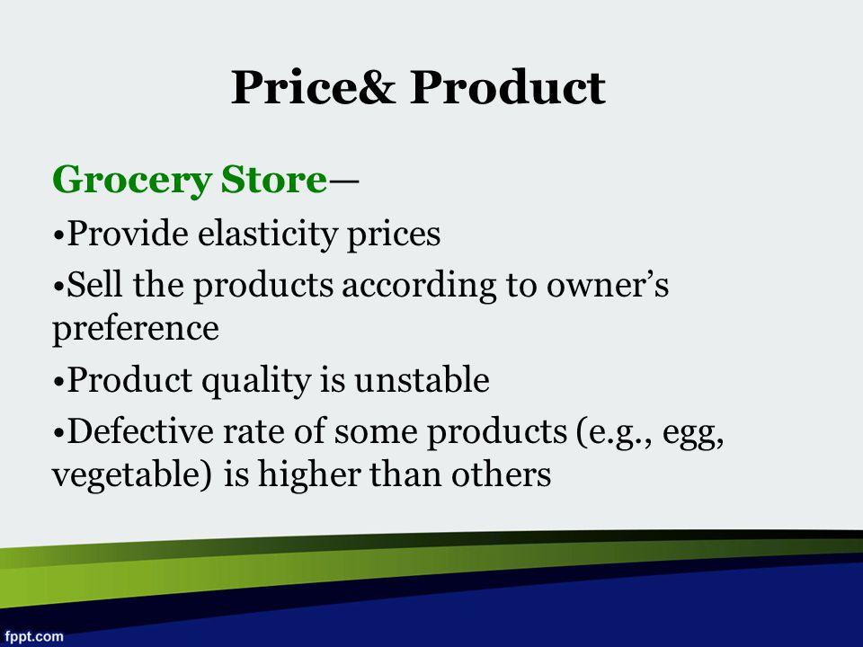 Price& Product Grocery Store— Provide elasticity prices