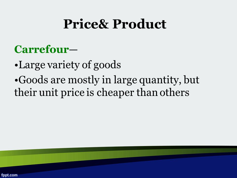 Price& Product Carrefour— Large variety of goods