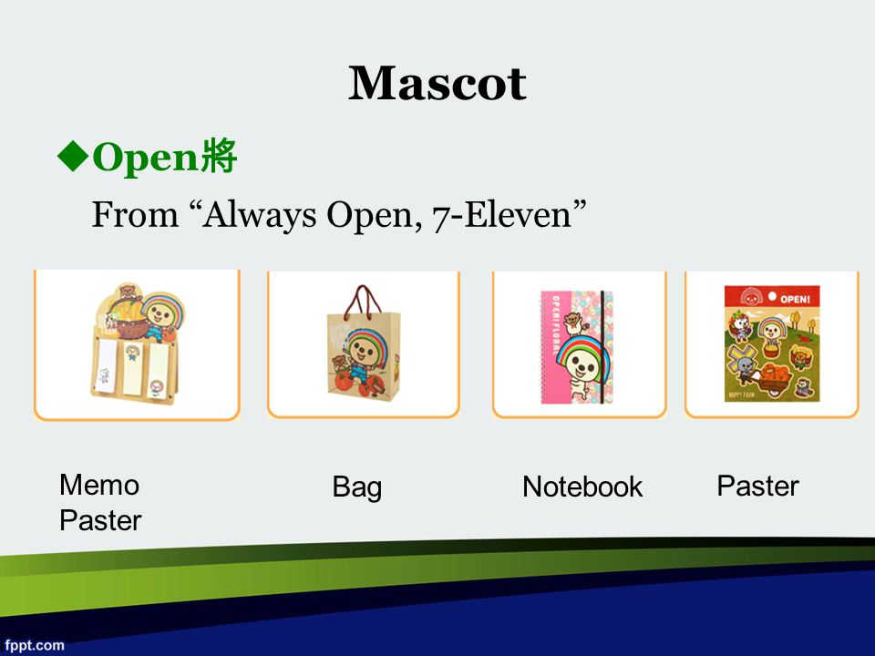 Mascot Open將 From Always Open, 7-Eleven Memo Paster Bag Notebook