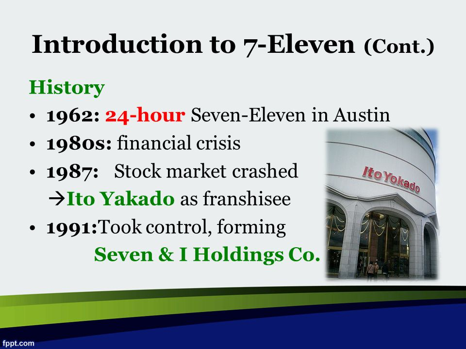 Introduction to 7-Eleven (Cont.)