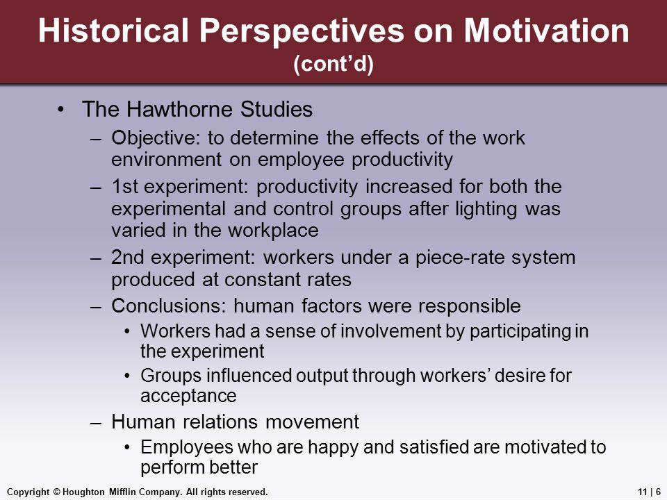 Historical Perspectives on Motivation (cont'd)