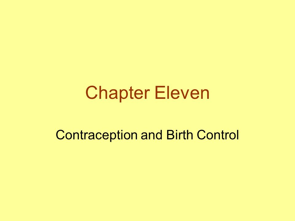 Contraception and Birth Control