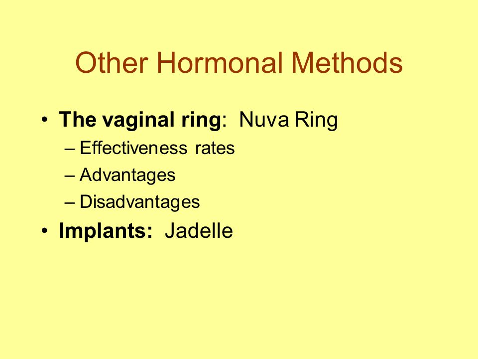 Other Hormonal Methods