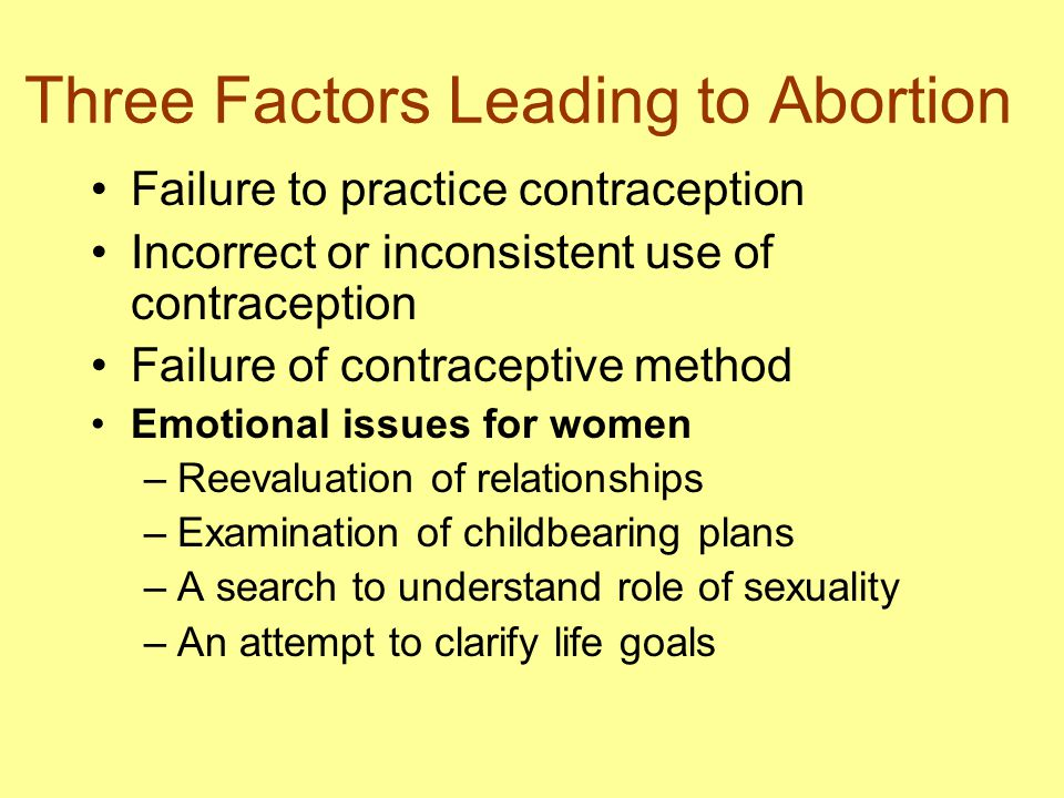 Three Factors Leading to Abortion