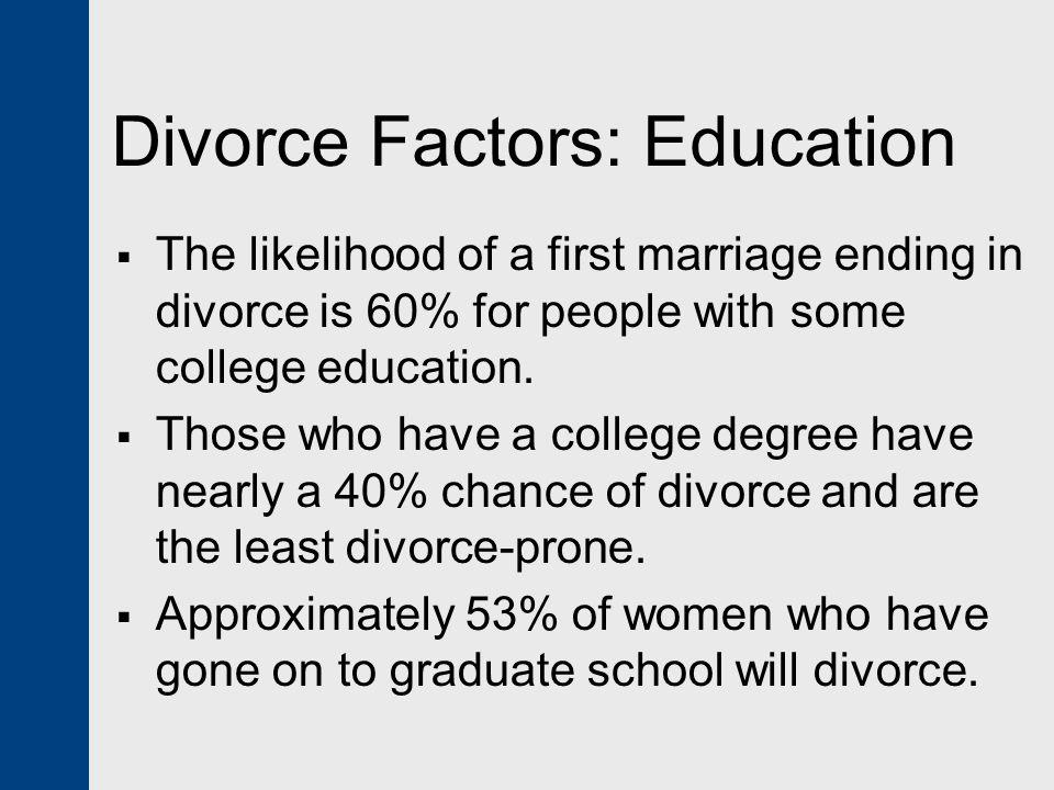 Divorce Factors: Education