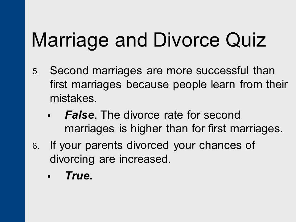 Marriage and Divorce Quiz