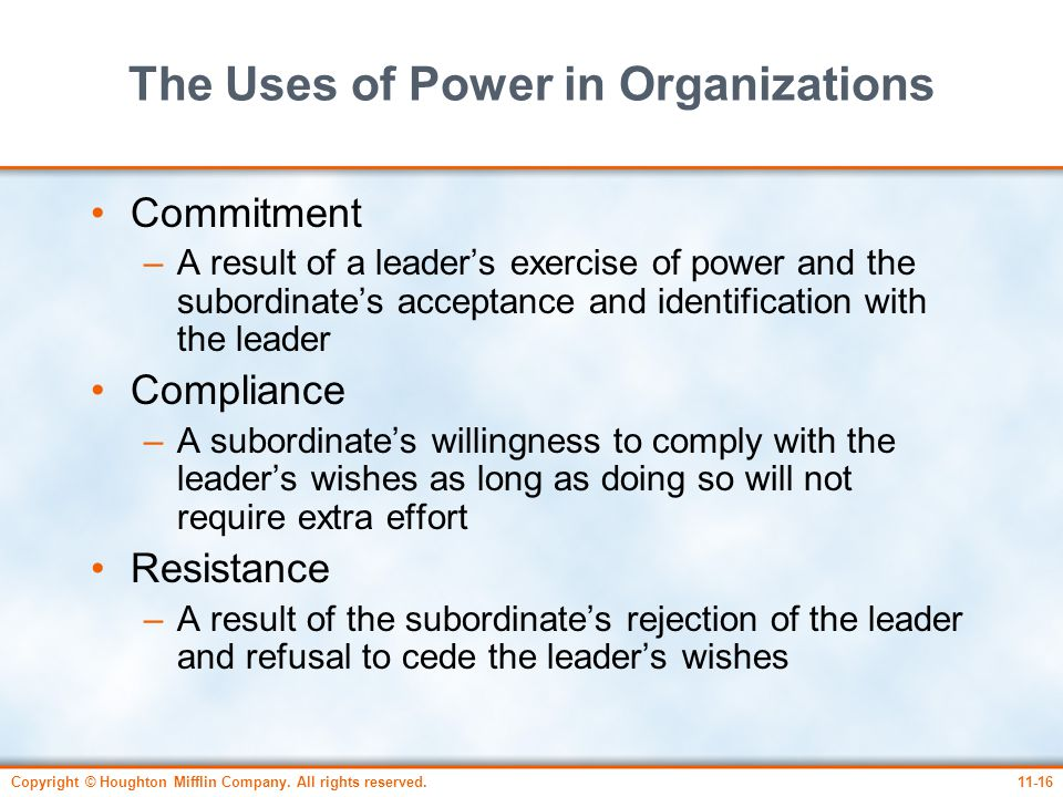 The Uses of Power in Organizations