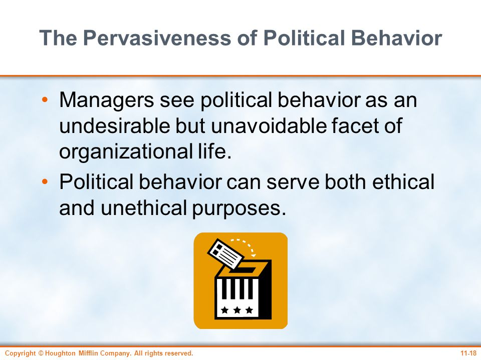 The Pervasiveness of Political Behavior