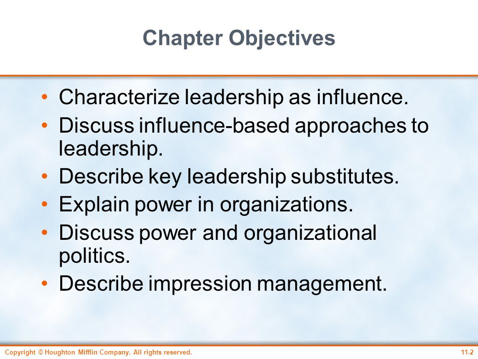 Characterize leadership as influence.