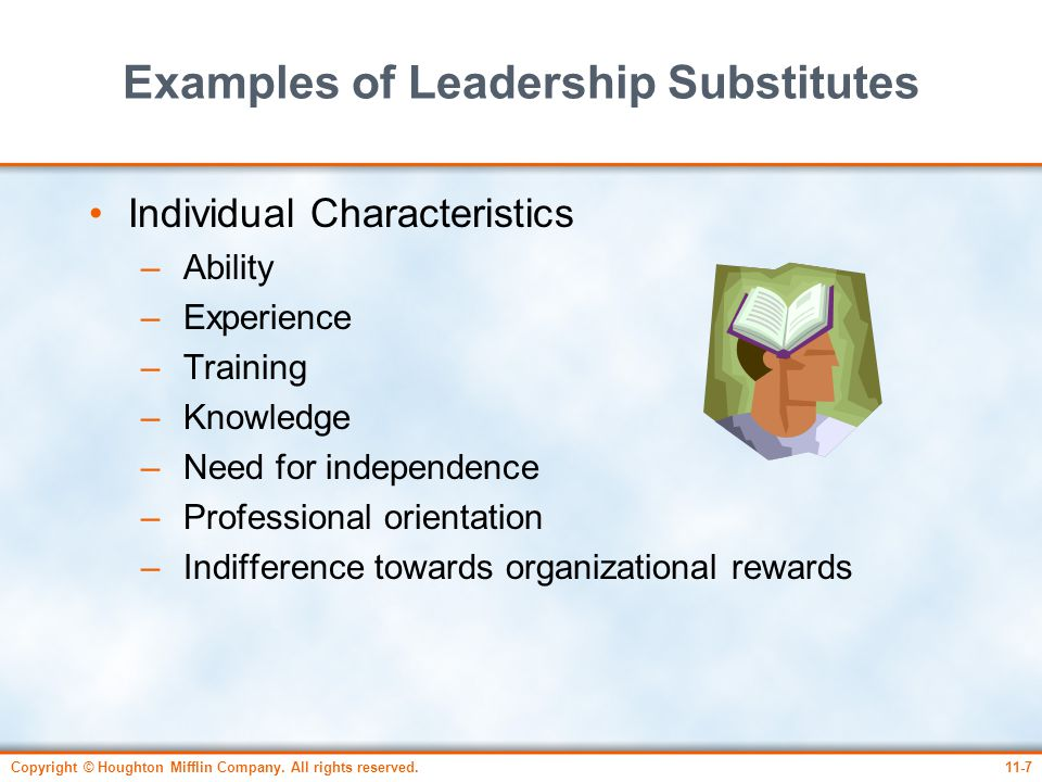 Examples of Leadership Substitutes