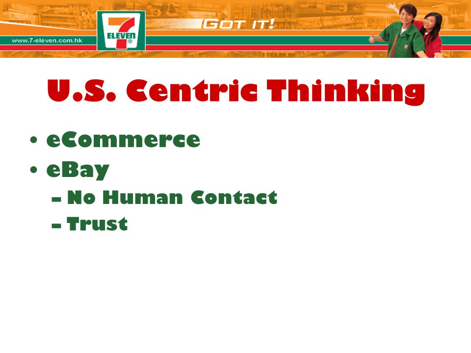 U.S. Centric Thinking eCommerce eBay No Human Contact Trust Jolie