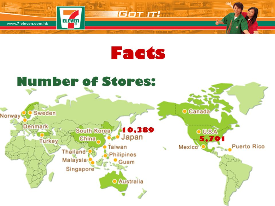 Facts Number of Stores: 10,389 Claire 5,791