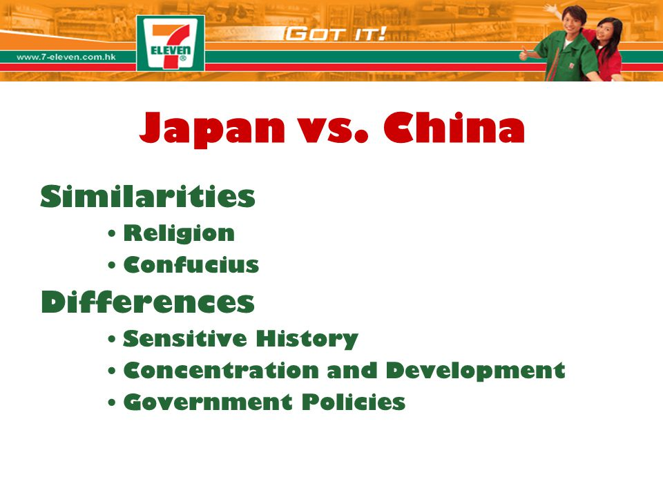 Japan vs. China Similarities Differences Religion Confucius