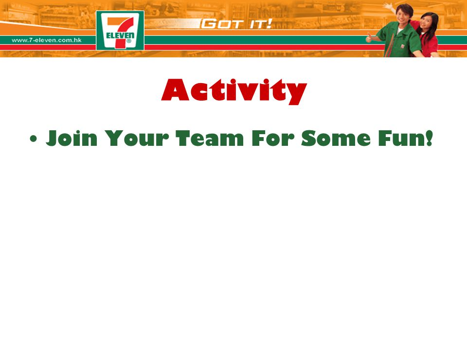 Activity Join Your Team For Some Fun! Jolie