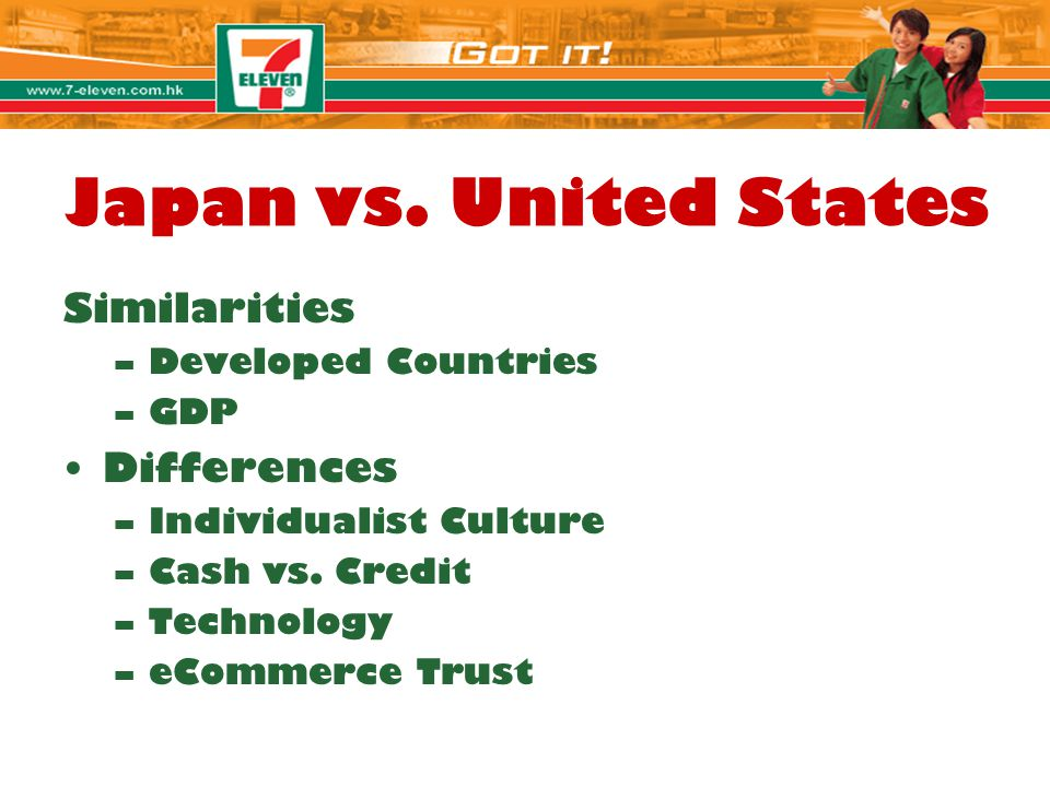 Japan vs. United States Similarities Differences Developed Countries