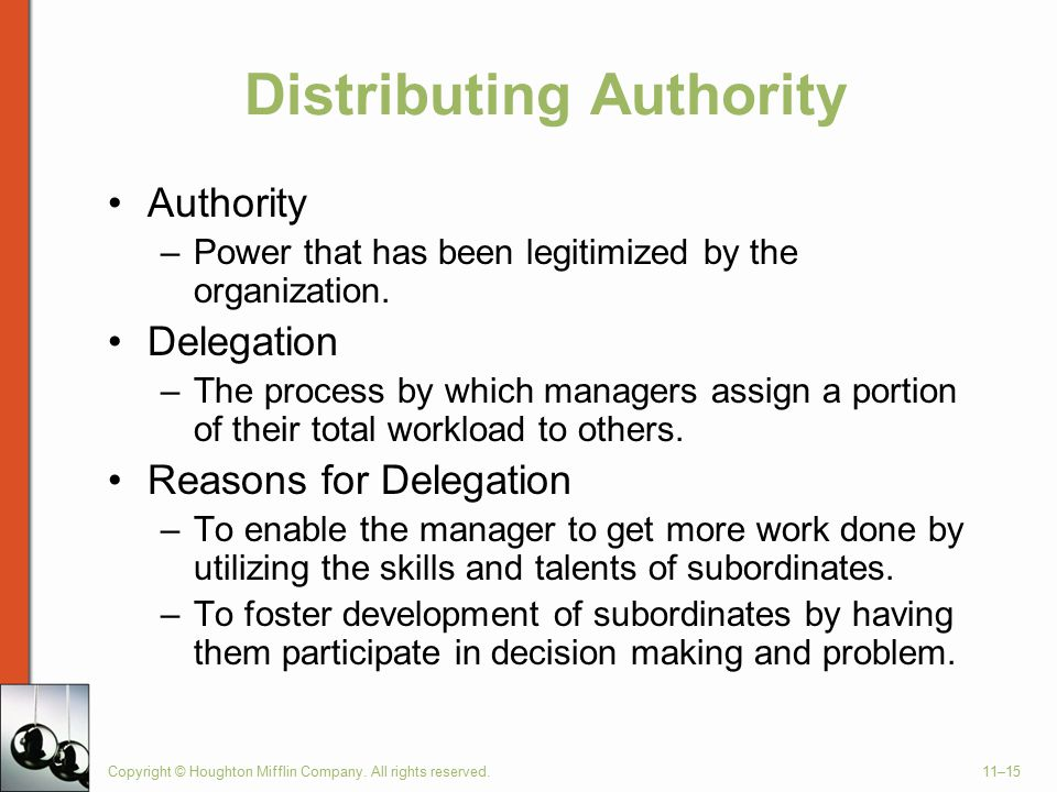 Distributing Authority