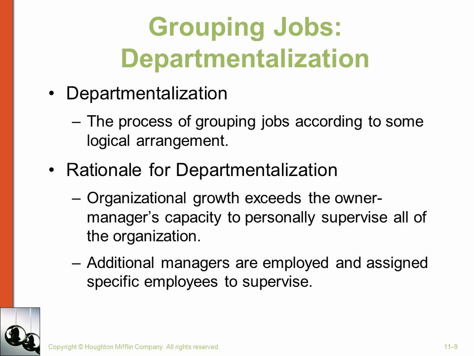 Grouping Jobs: Departmentalization