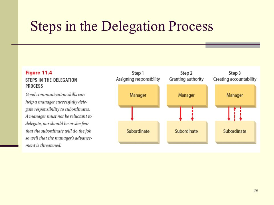 Steps in the Delegation Process