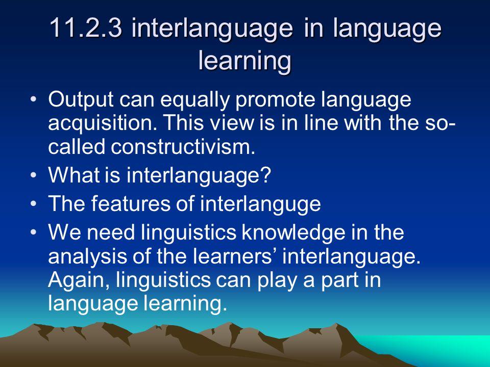 11.2.3 interlanguage in language learning