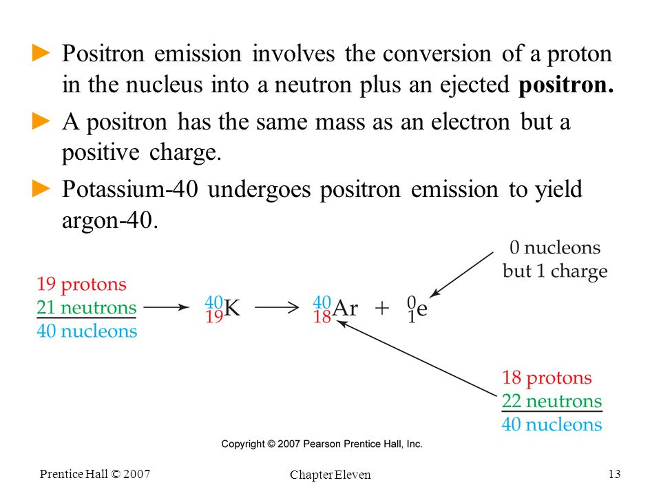 A positron has the same mass as an electron but a positive charge.