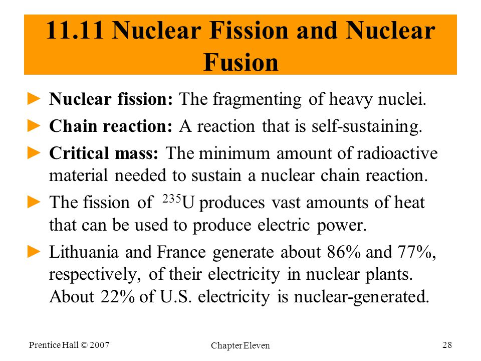 11.11 Nuclear Fission and Nuclear Fusion