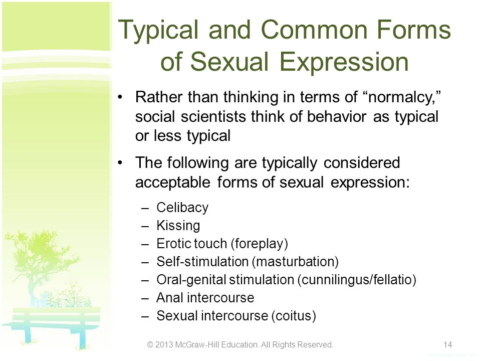 Typical and Common Forms of Sexual Expression