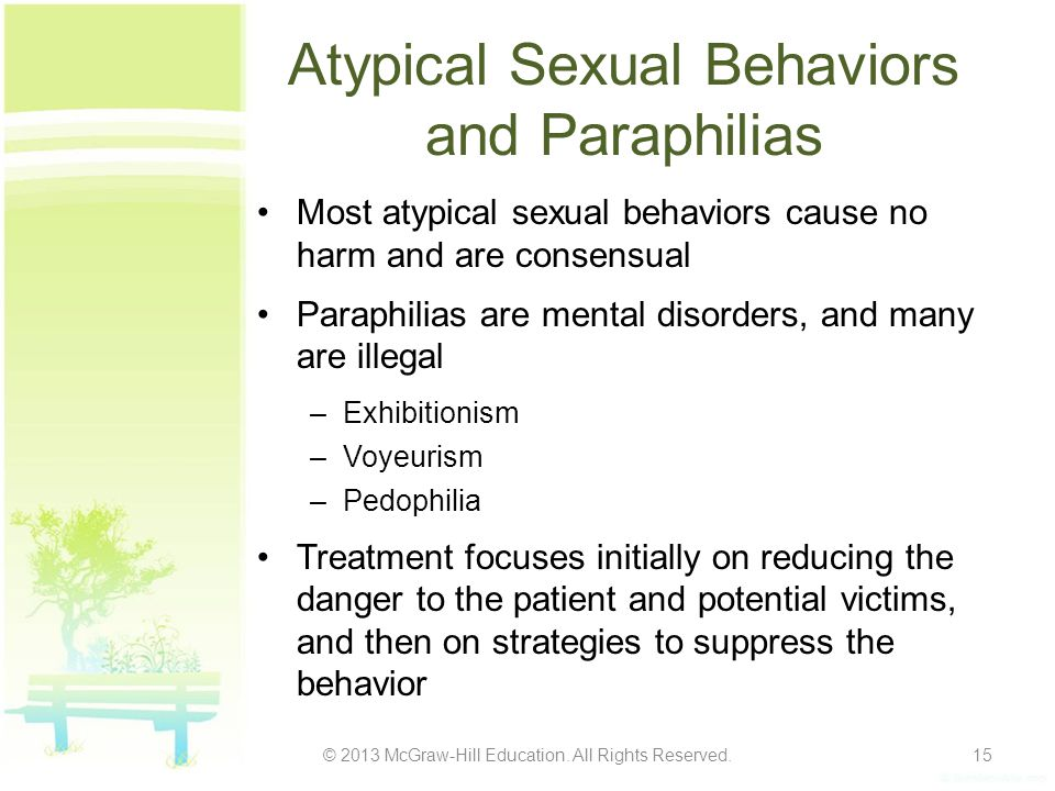 Atypical Sexual Behaviors and Paraphilias