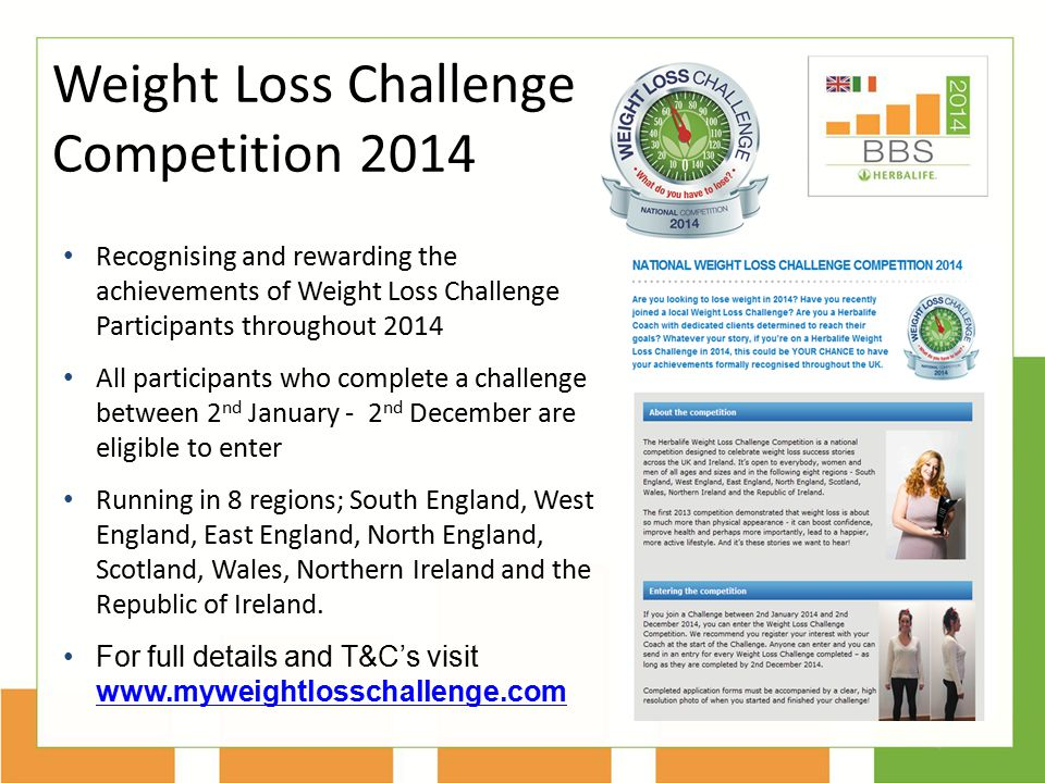 Weight Loss Challenge Competition 2014