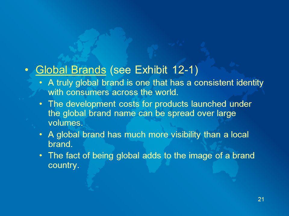 Global Brands (see Exhibit 12-1)