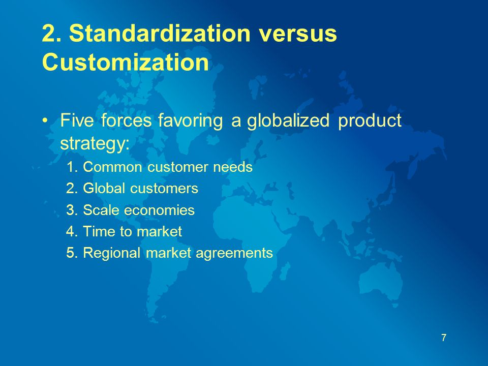 Standardization vs. Customization for Products and Services