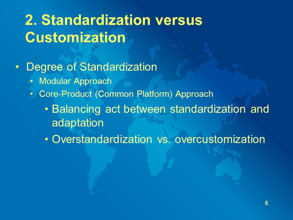 "standardization versus customization Custom parts vs standard parts these are just some of the reasons why large firms try to force ""standardization"" upon their eleclair@viconerubbercom."