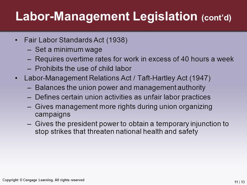 Labor-Management Legislation (cont'd)
