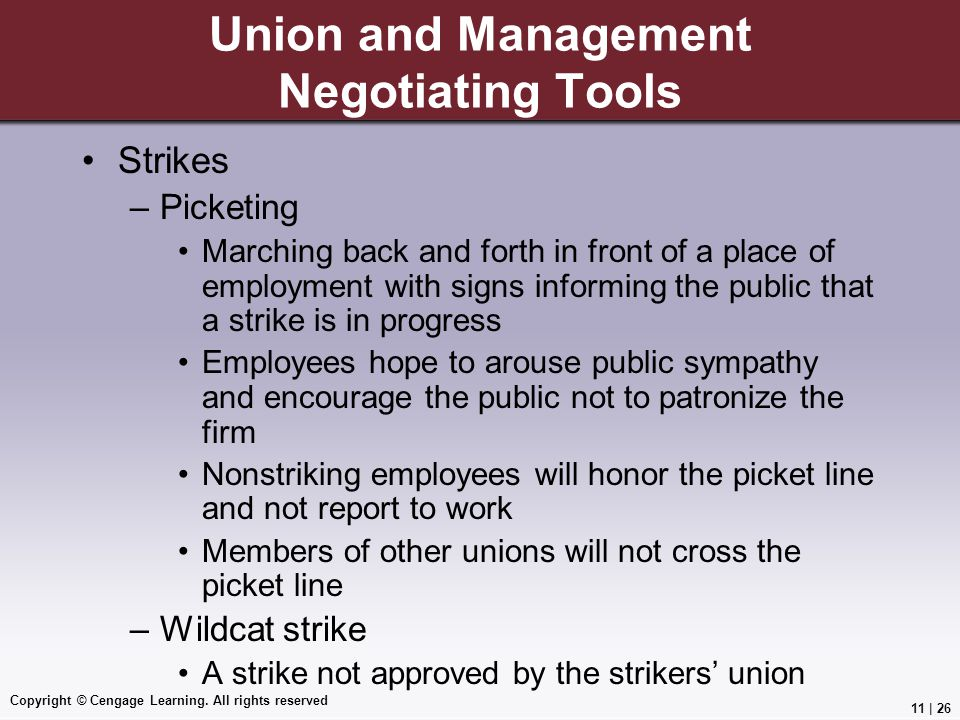 Union and Management Negotiating Tools