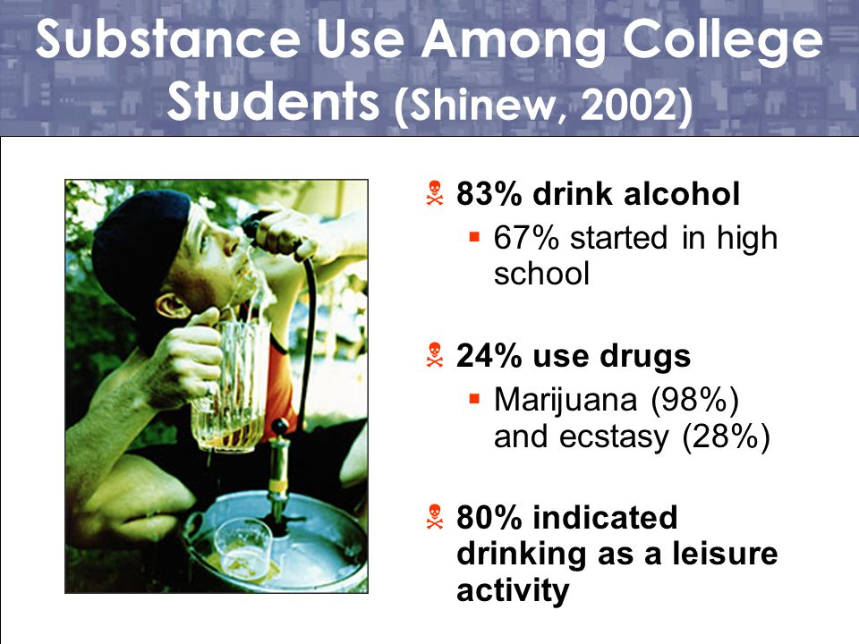 Substance Use Among College Students (Shinew, 2002)