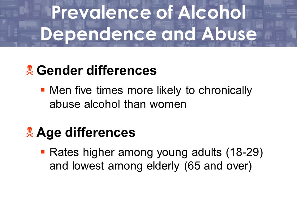 Prevalence of Alcohol Dependence and Abuse