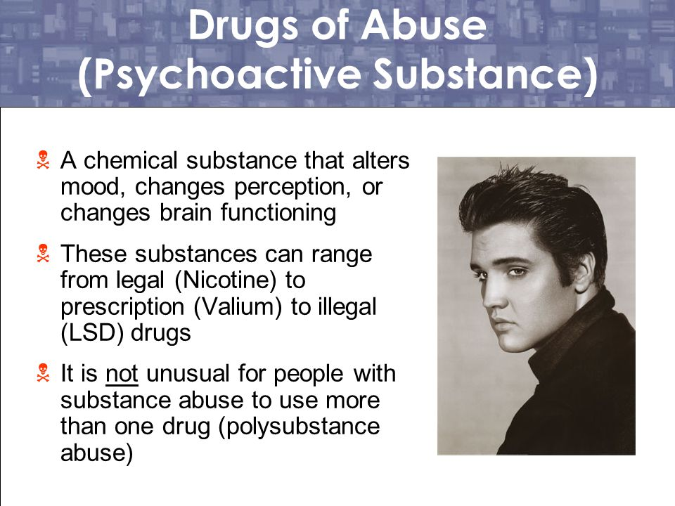Drugs of Abuse (Psychoactive Substance)