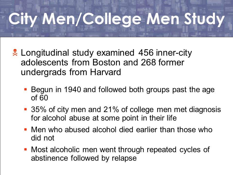 City Men/College Men Study