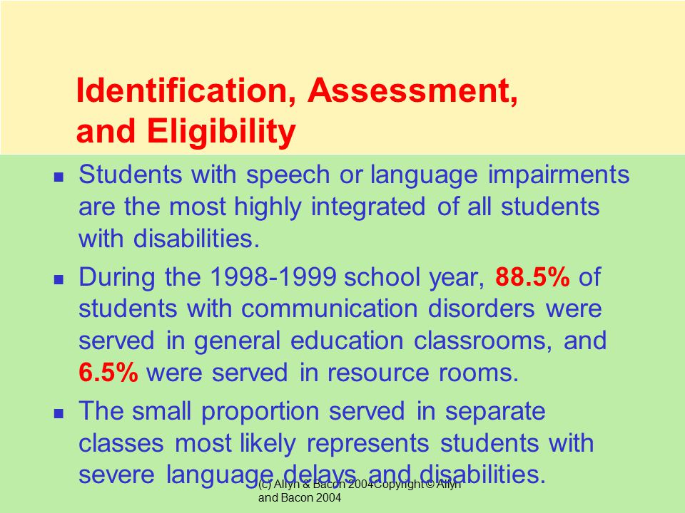 Identification, Assessment, and Eligibility