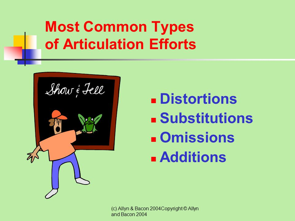 Most Common Types of Articulation Efforts