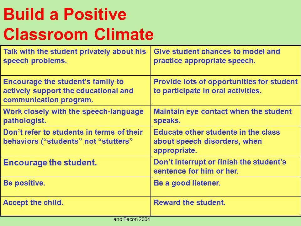 Build a Positive Classroom Climate