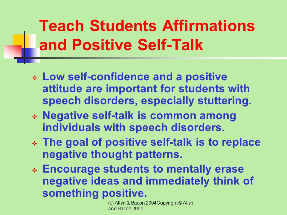 Teach Students Affirmations and Positive Self-Talk